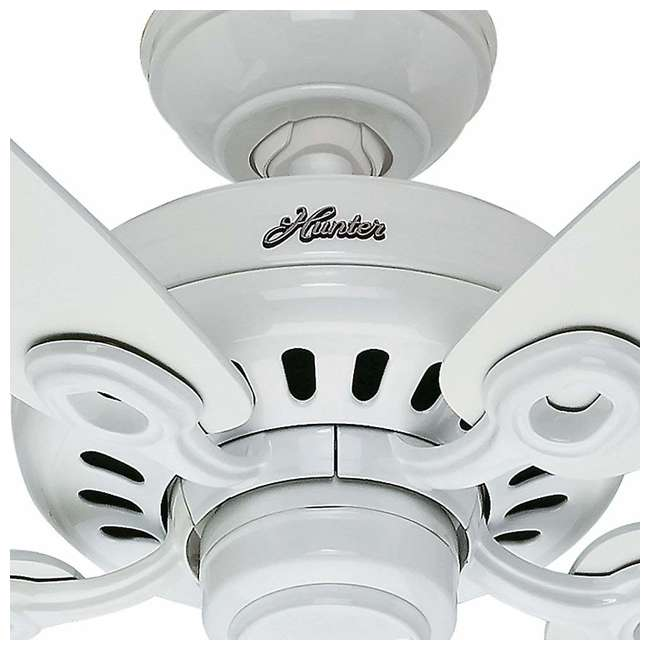 54108 Hunter Markham 52 Inch Indoor Ceiling Fan w/ 5 Blades and Pull Chain, Snow White 1