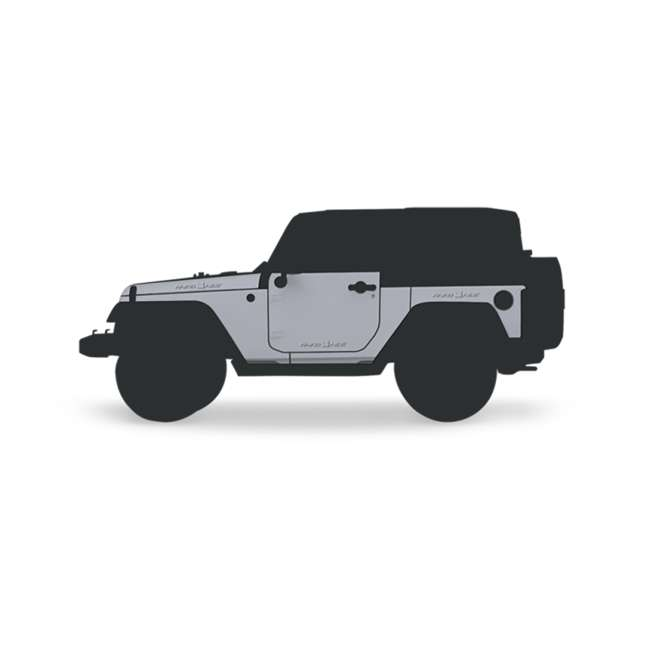 JPJKW2D-RHG Rhinohide Jeep Wrangler JK 2-Door Magnetic Body Armor Panels, Rhinohide Gray