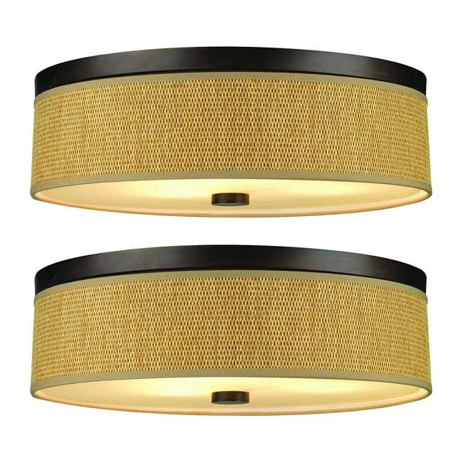 PLC-F615620 Philips Forecast 60W Cassandra Ceiling Light, Sorrel Bronze (2 Pack)