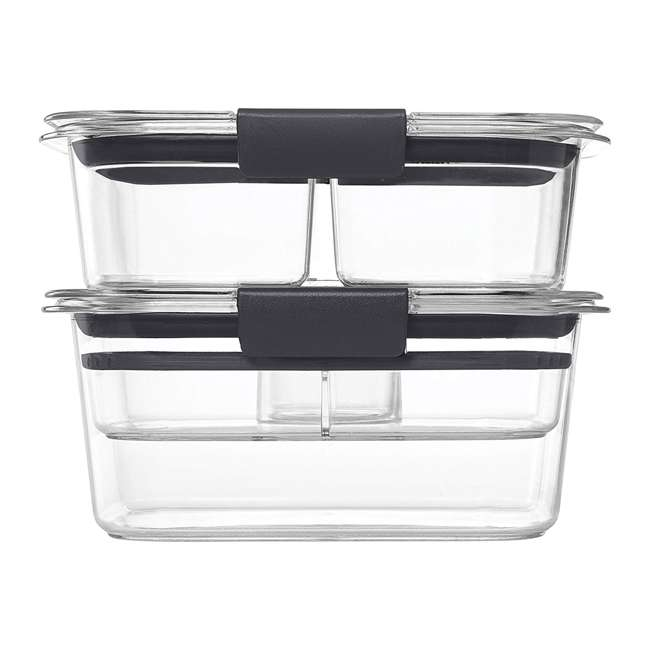 2027441 Rubbermaid Brilliance 9 Piece Food Storage Container Combo Kit Set, Clear/Gray