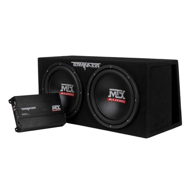 TNP212DV MTX 12-Inch 2000W Dual Loaded Subwoofer Enclosure with Amplifier (2 Pack) 1