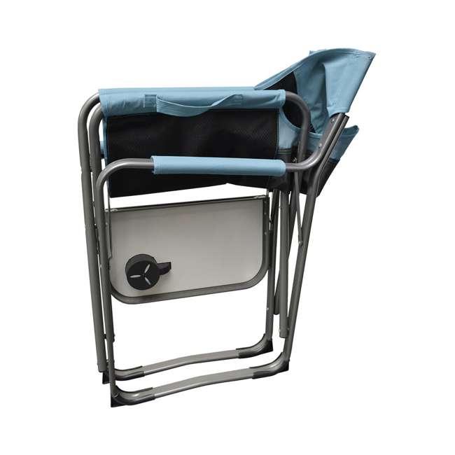 CVANDFC01022-2PK-U-B Caravan Canopy Elite Portable Director's Folding Chair, Blue/Grey (2 Pack)(Used) 2