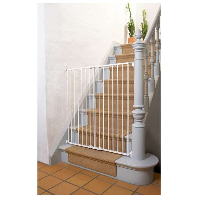 BBD-57614-2400 BabyDan 57614 Streamline Extra Tall 42 Inch Wall Mounted Pet Safety Gate, White 2