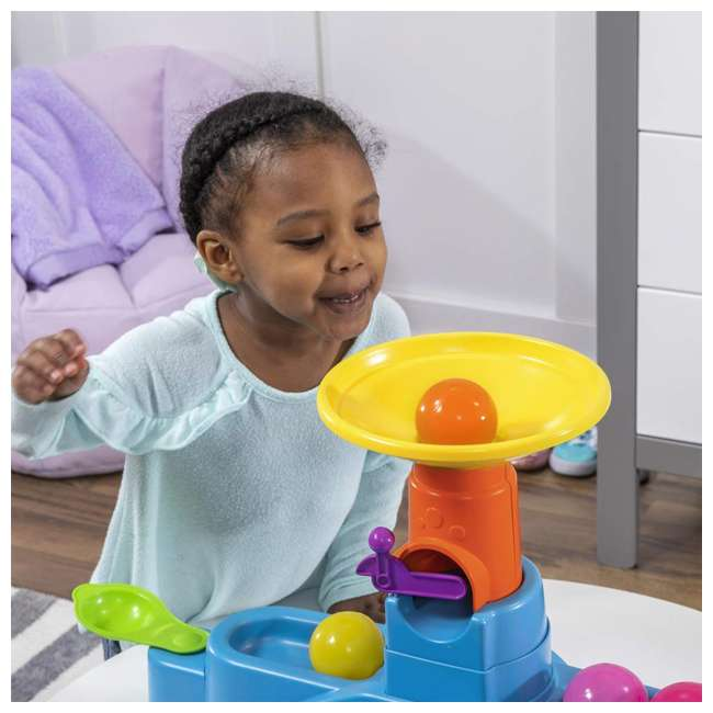 497400 Step2 497400 Durable Toddler Ball Buddies Tunnel Tower with 10 Colorful Balls 3