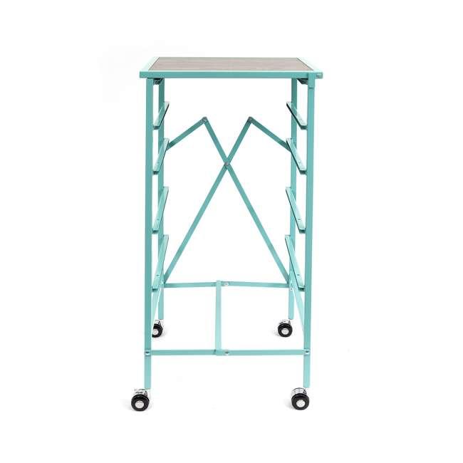 DFS-05-TURQ Origami Wheeled Foldable 5-Drawer Storage Cart, Turquoise  3
