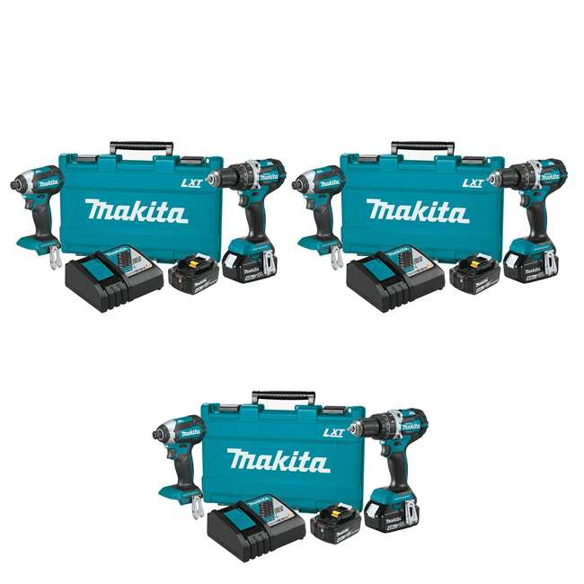 3 x XT269M Makita Brushless 4.0 Ah Cordless 2-Piece Combo Kit (3 Pack)