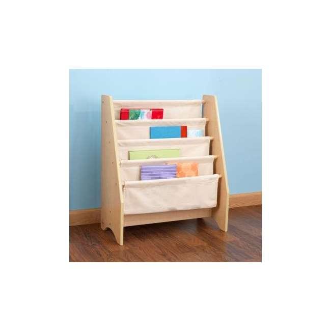 14221-U-A KidKraft Wood & Canvas Sling Shelf Kids Book Case Shelf - Natural (Open Box) 2