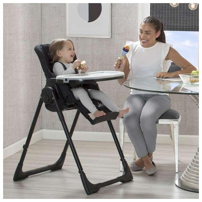 25008-2013 Jeep Classic Convertible Foldable High Chair for Babies and Toddlers, Black 5