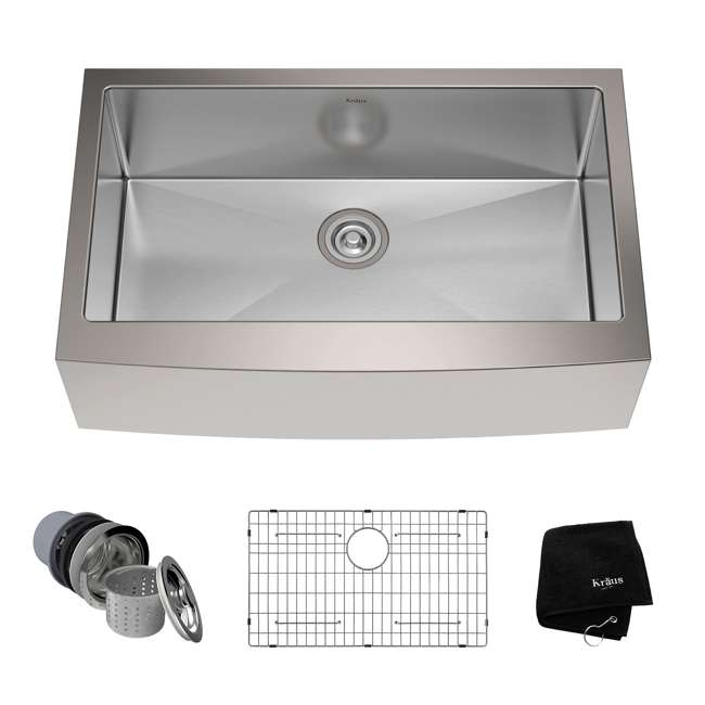 KHF200-33-OB Kraus 33-Inch Farmhouse Single Bowl Stainless Steel Kitchen Sink (OPEN BOX)