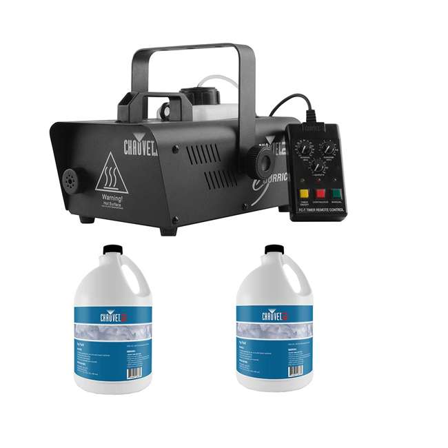 H1200 + 2 x FJU Chauvet DJ Hurricane Fog/Smoke Machine and 1 Gallon Bottle of Fog Fluid (2 Pack)