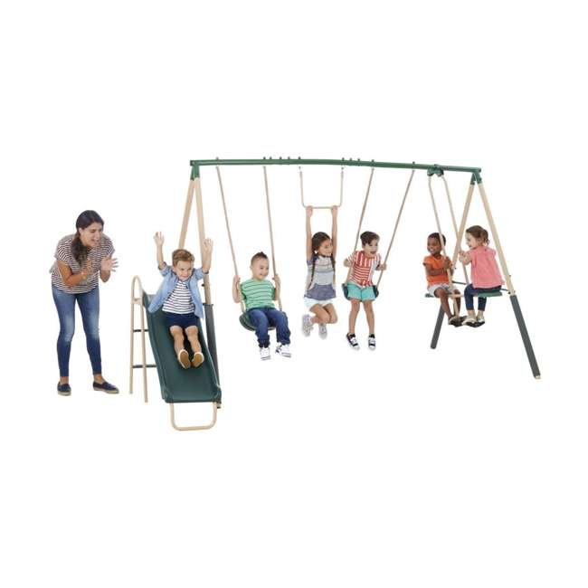 XDP-94444 + XDP-70113 XDP Recreation Childrens Outdoor Metal Play Swing Set Swing Set & Anchor Kit 2