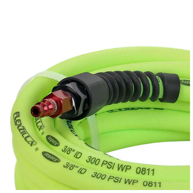 LEG-HFZP3825YW2-D Flexzilla Pro Air Hose with ColorConnex Type D Coupler and Plug, 3/8 In x 25 Ft 1