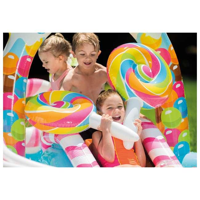 57149EP-U-A Intex  Kids Candy Zone Play Center Splash Pool w/ Waterslide (Open Box) (2 Pack) 3