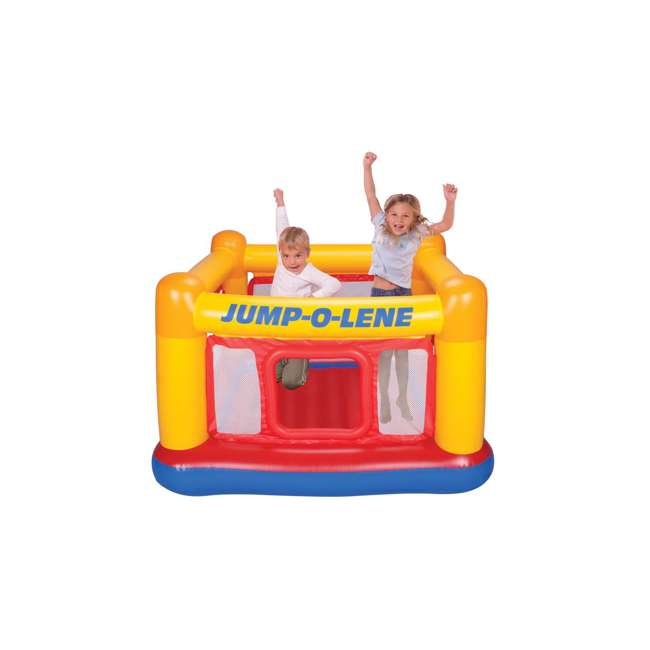 48260EP INTEX Inflatable Jump-O-Lene Ball Pit Playhouse Bouncer House (Open Box) (2 Pack)