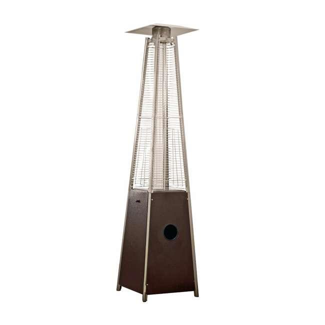 HLDS01-GTHG-U-A AZ Patio Tall Outdoor Triangle Glass Tube Liquid Propane Heater (Open Box) 4