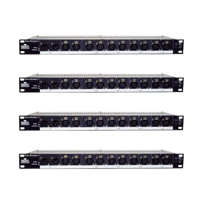 4 x DATA-STREAM4 Chauvet DJ DATA STREAM 4 Universal Optical Splitter (4 Pack)