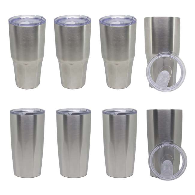 Insulated Stainless Steel 30-Ounce Tumblers (4) + 20-Ounce