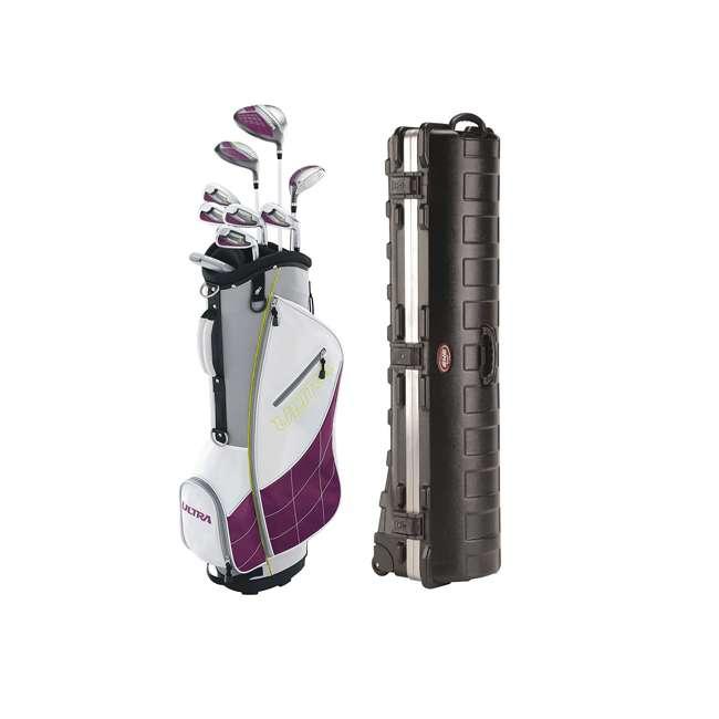 WGGC43400 + 2SKB-1649W Wilson Ultra Womens Right Handed Golf Club Set & Travel Case
