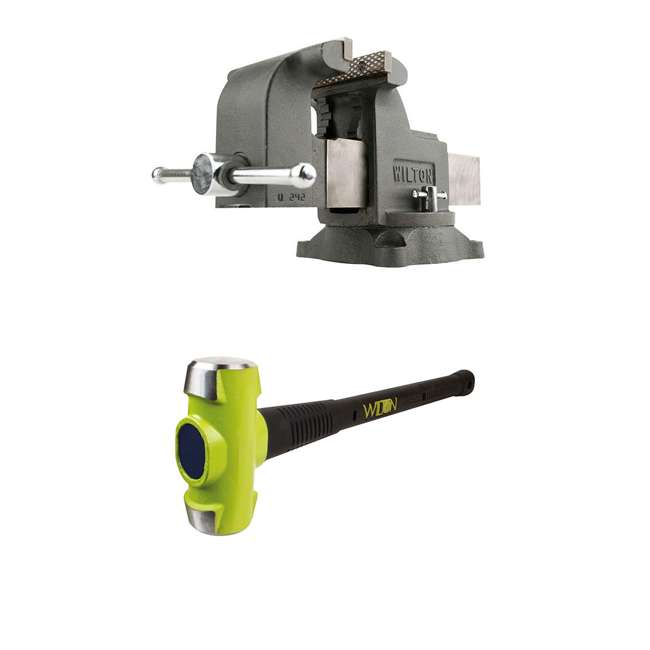 WIL-63302 + WIL-20616 Wilton WS6 6 In Bench Vise w/ 6 Pound Sledge Hammer