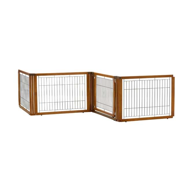 94196 Richell Convertible Elite 4 Panel 3 in 1 Pet Kennel and Gate, Brown  2