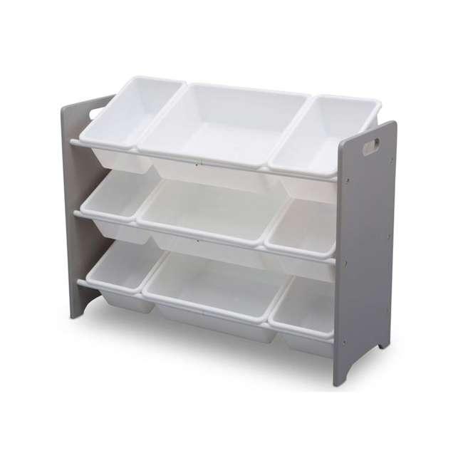 TB83461GN-026 Delta Children MySize Kids 9 Bin Plastic Toy Box Storage Organizer Shelves, Gray