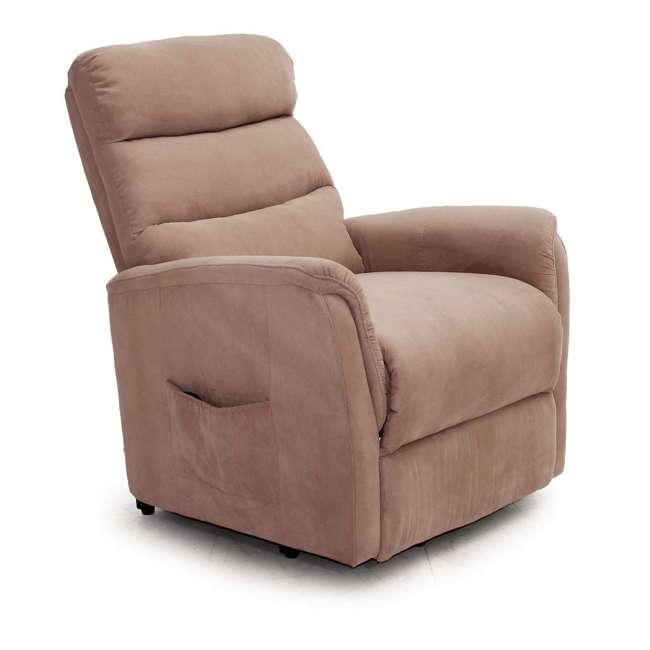 L6115F51-Mocha Lifesmart Ultra Comfort Fitness Lift Chair with Heat, Massage and Remote 3