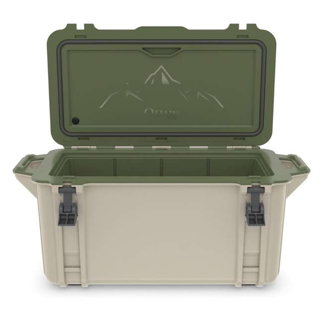 77-54869 OtterBox Venture Heavy Duty Outdoor Camping Fishing Cooler 65-Quarts, Tan/Green 6