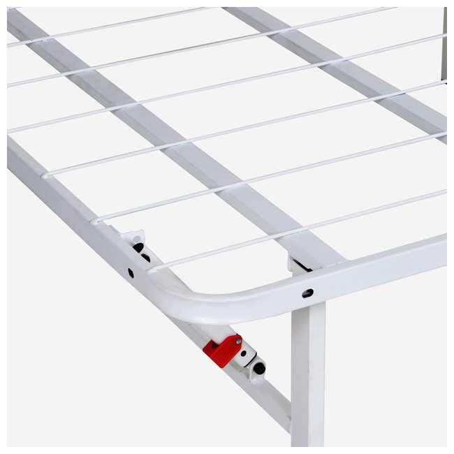 VMI-18QIB2-112-WT-U-A intelliBASE Bi-Fold Platform White Metal Bed Frame, Queen  2