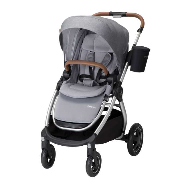 CV371ETL Maxi-Cosi Adorra Forward or Rear Facing Modular Folding Stroller, Nomad Gray