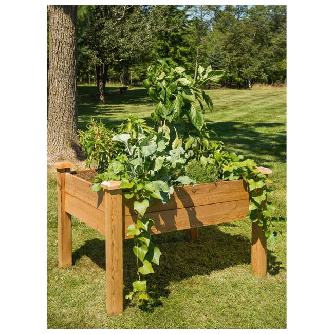 EGB 34-48S Gronomics Red Cedar Rustic Elevated Garden Bed 34 x 48 x 32 Inches, Finished 2