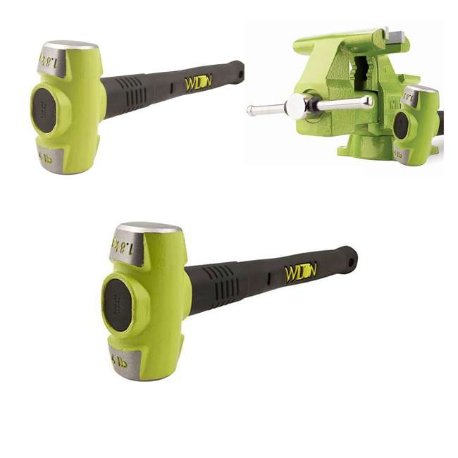JPW-11128BH + WIL-20416 Wilton Bash 6.5 Inch Vise And 12 Inch Hammer + 4 Pound 16 Inch Sledge Hammer