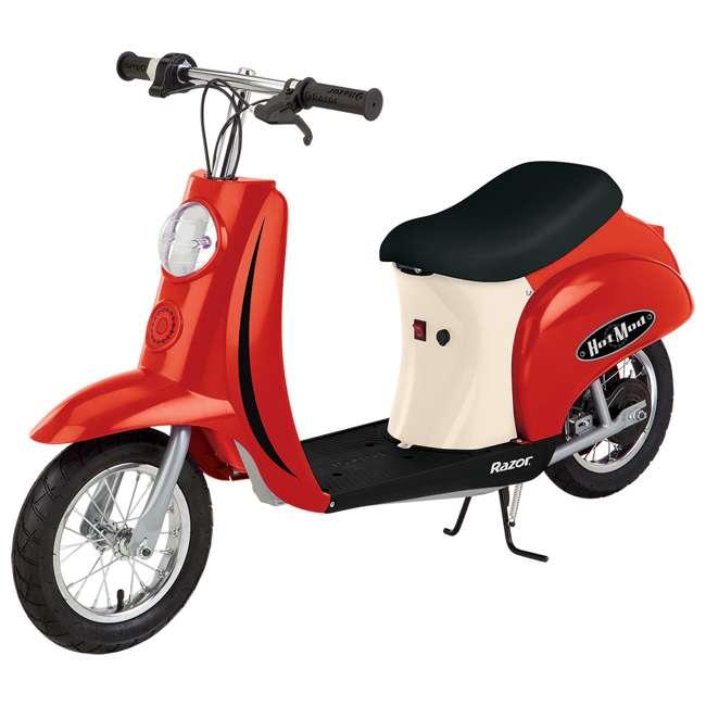 15130656 Razor Pocket Mod Miniature Electric Scooter, Red