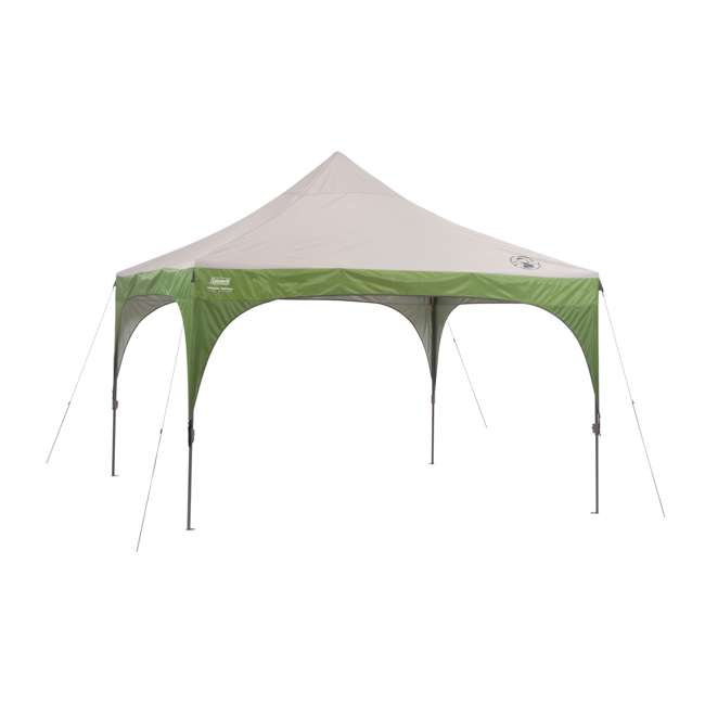 2000024115 Coleman 12 x 12 Foot Camping Tailgating Backyard Instant Sun Shelter (Damaged) 2