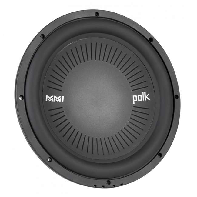 DB1242-SVC Polk Audio 12 Inch Single Coil Marine Subwoofer (2 Pack) 2