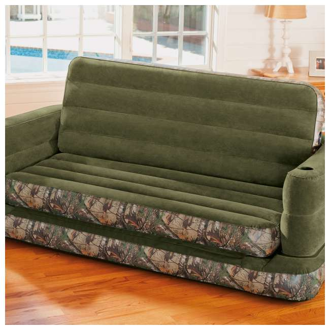 Intex Inflatable Realtree Camo Queen Size Pull Out Sofa