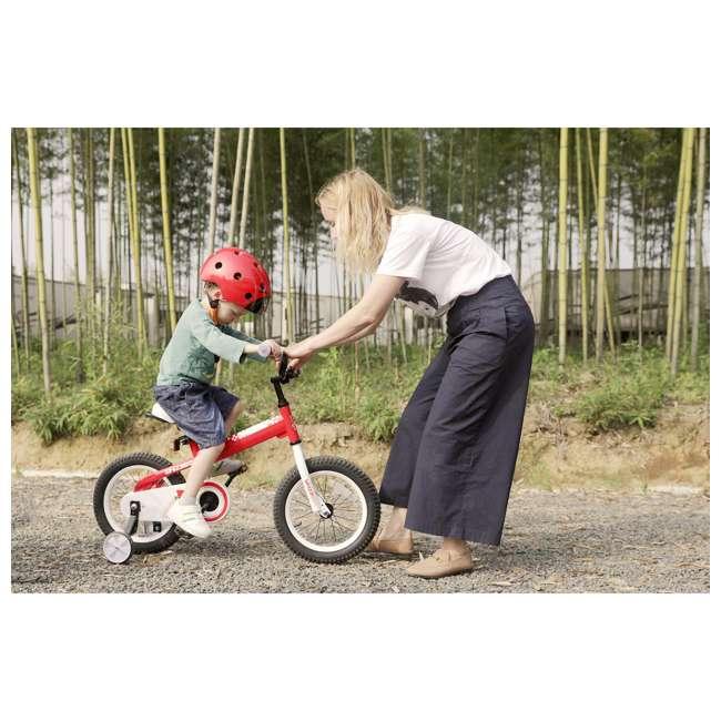BIKE029rd-16 JOYSTAR Whizz Series 16-Inch Ride On Kids Bike with Training Wheels, Red & White 3