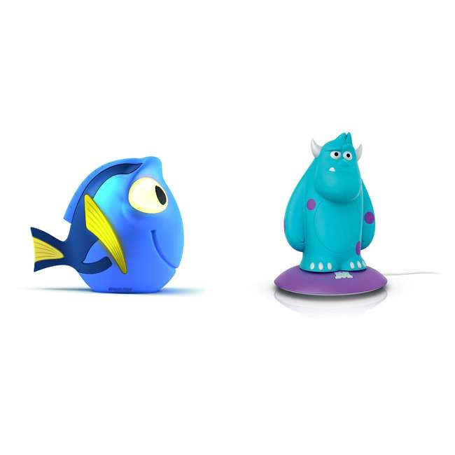 PLC-7176890U0 + PLC-798538 Philips Disney Finding Dory & Monsters Inc. Sulley Portable Nightlight (1 Each)