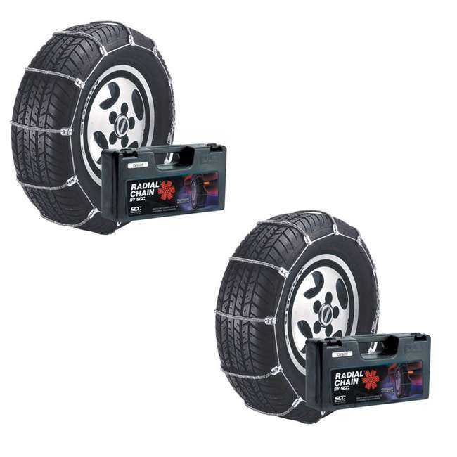 SC1036 Radial Chain Cable Traction Tire Snow Chain Set (2 Pack)