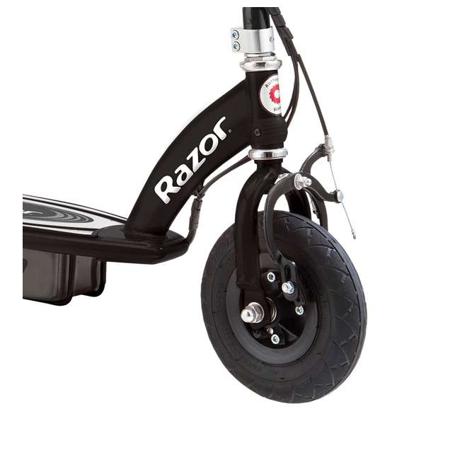 13110097 + 97783 + 96784 Razor E100 Motorized Black Electric Scooter w/ Pink Helmet & Deluxe Safety Set 5