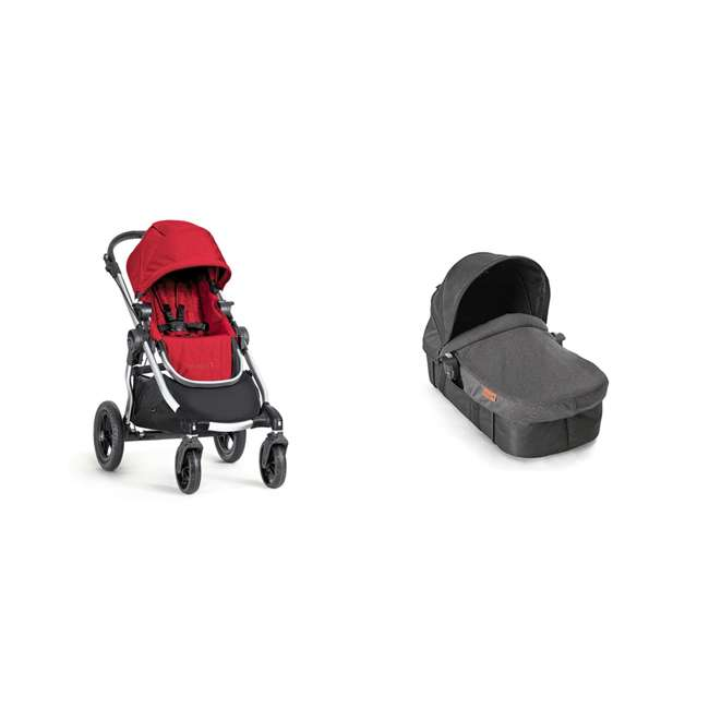1959407 + 2050966 Baby Jogger City Select Customizable Stroller + Baby Jogger Pram Bassinet