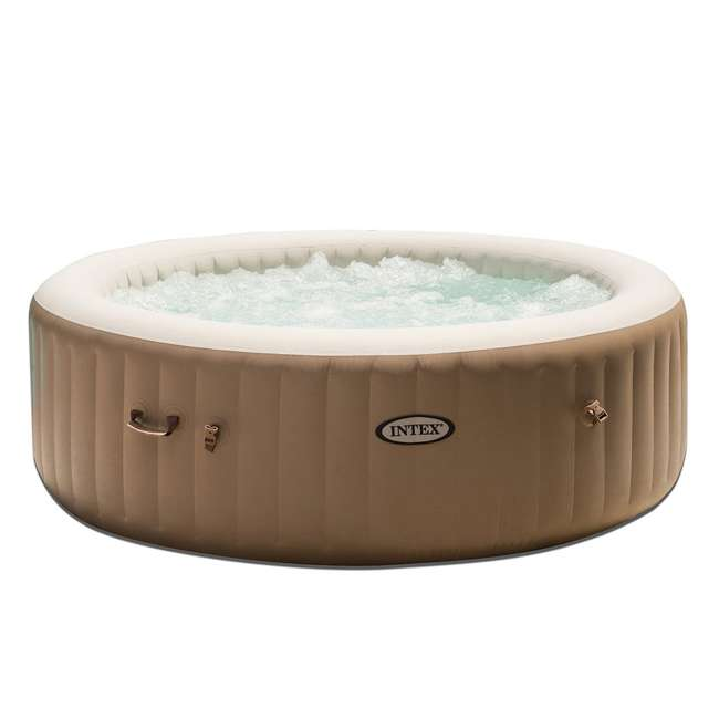 "28407E + 2 x 28500E Intex 85"" 6 Person Inflatable Hot Tub Spa with Cup Holder & Tray (2 Pack) 1"