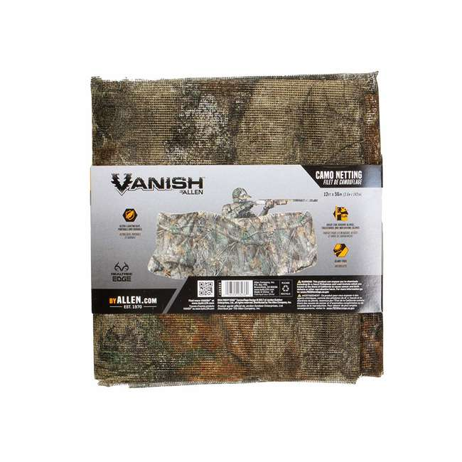 25322 Allen Company 56-Inch Hunting Blind 12-Foot Netting, Realtree Edge Forest Camo 2