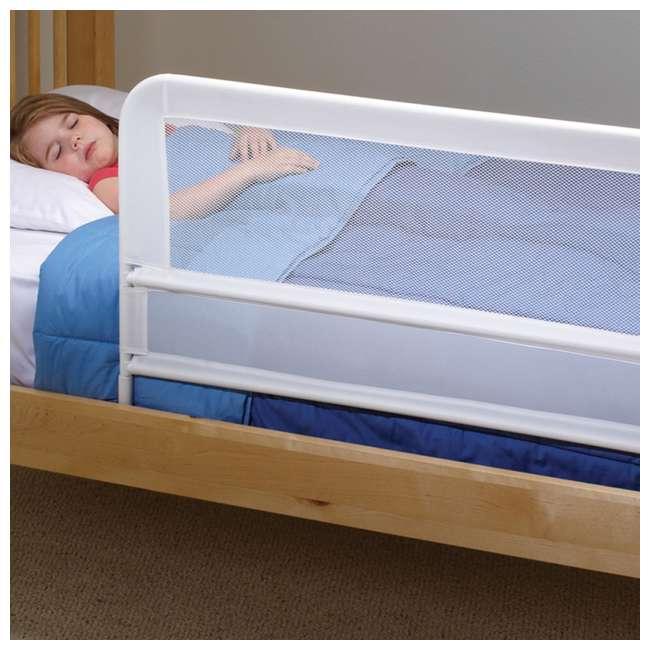 BR303 KidCo Telescopic 2-Pack Children's Bed Rail, White (2 Sets) 5