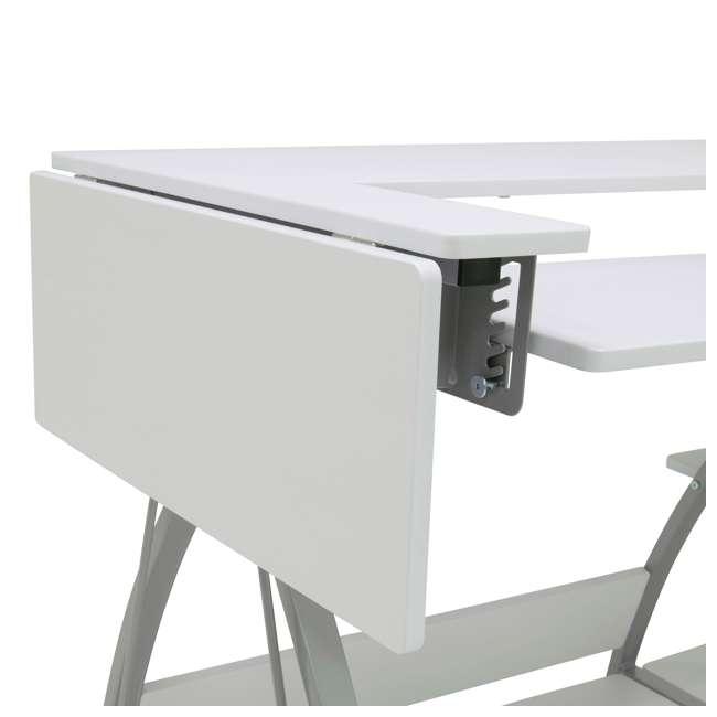 STDN-38018 Sew Ready STDN-38018 Venus Sewing Machine Craft Table Computer Desk, Silver 9