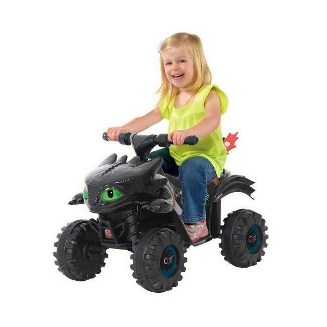 W413D Rollplay How to Train Your Dragon Battery Kid's Mini Quad 4 Wheeler Ride-On Toy 1