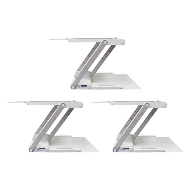 3 x UD-01-WHI Supermoon Products Up2U Height Adjustable Desk, White (3 Pack)