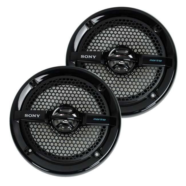 XSMP1611b Sony 6.5-Inch 140W Dual Cone Marine Speakers - Black | XSMP1611 (Pair)