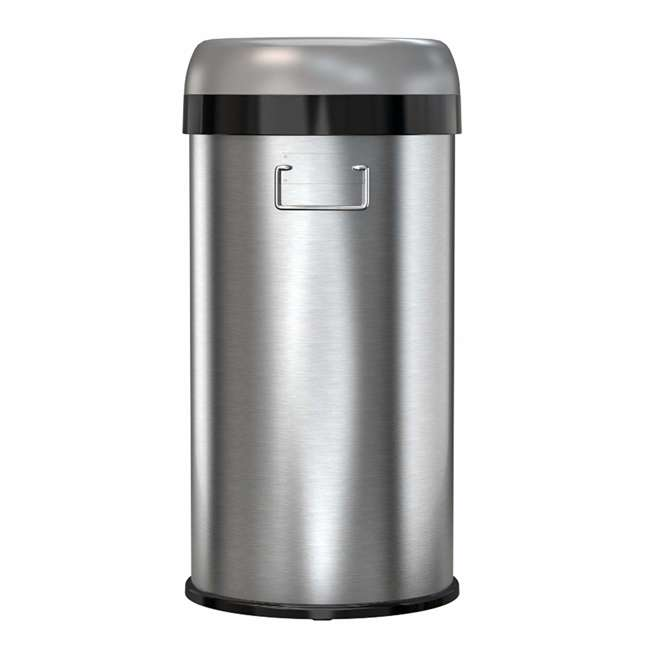 OL13STR iTouchless 13 Gallon Deodorizer Trash Can with Open Top, Stainless Steel 5