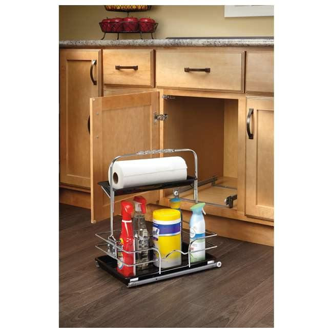 544-10C-1 Rev-A-Shelf 544-10C-1 Undersink Base Cabinet Slide Out Cleaning Caddy. Silver 1