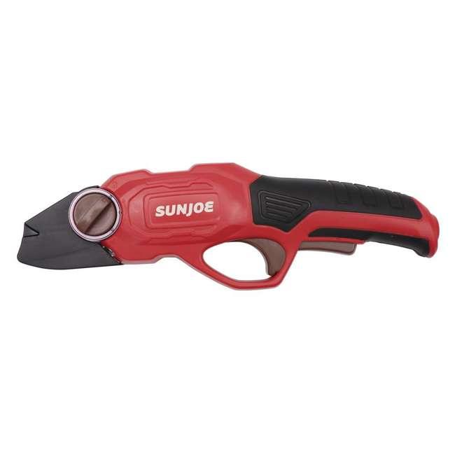 SUJ-PJ3600C-RED-U-B Sun Joe Cordless Battery Powered Rechargable Power Garden Pruner, Red (Used) 1